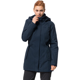Jack Wolfskin Madison Avenue Hardshell Jas Dames, midnight blue